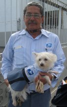 Lupita with owner Postman Heriberto Lagares Rivera
