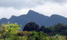 Adjuntas' Sleeping Giant mountains