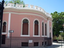 Modernist and Moorish details of the Ponce History Museum