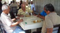 Domino masters at Parque del Retiro
